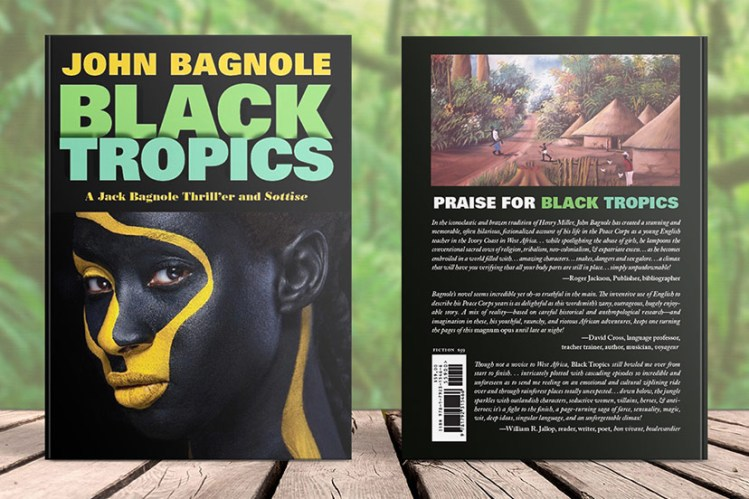 Front and back book covers for Black Tropics